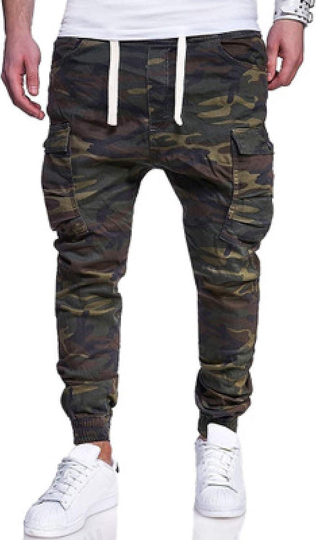 Pantalones cargo para hombre Pantalones de combate de campo de camuflaje militar Pantalones de combate de caza resistentes al desgaste Pantalones de jogging de pie de viga de bolsillo de chuleta de