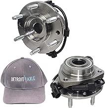 Detroit Axle Front Wheel Bearing & Hub [2PC Set] w/Bonus Item Detroit Axle - [Gray] Men's Velcro Back Hat -3W2400002