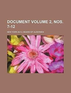 Document Volume 2, Nos. 7-12