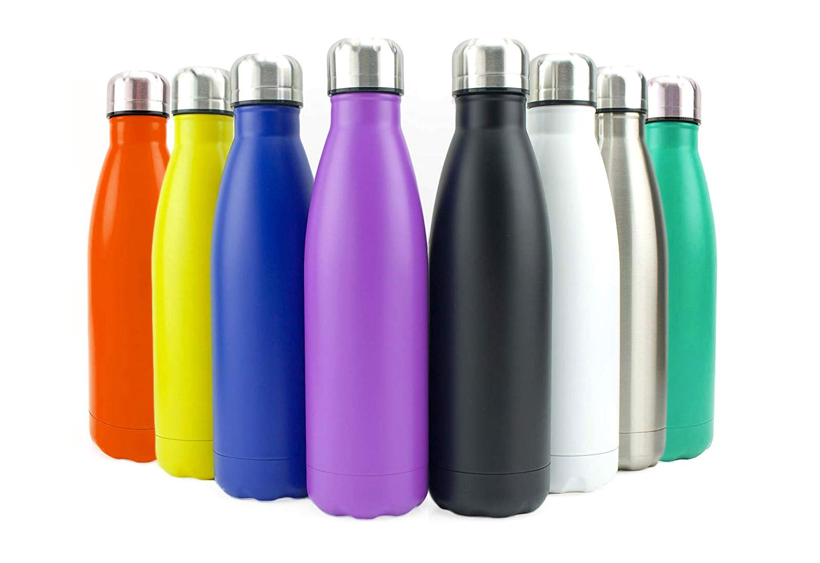 Stainless Steel Flask Water Bottle Double Wall Vacuum Insulated Sports Gym Metal