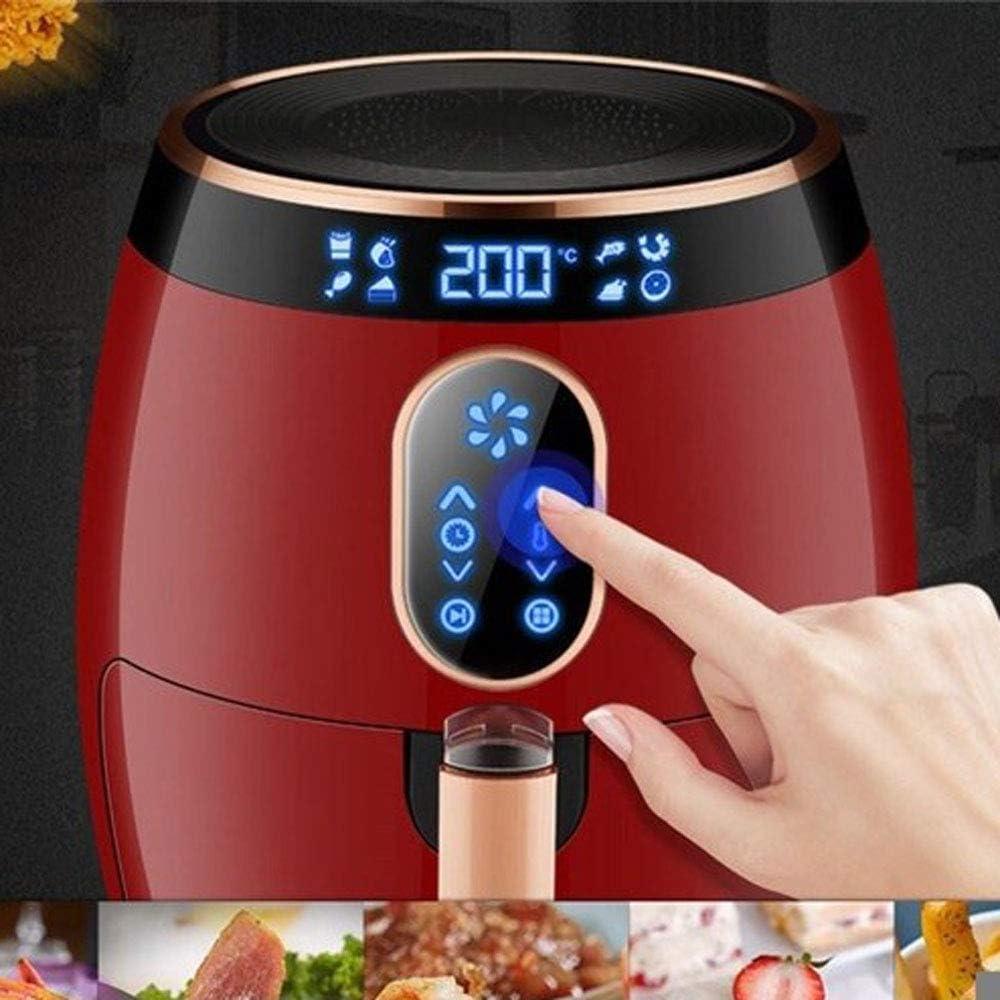 Keuken Air Fryer Home Multifunctionele Hoge Capaciteit Volledig Automatische Nonstick Pan Geen Brandstof Intelligente Frans Frietjes Machine 3.5L Met Uittrekken Gebakken Mand Rood
