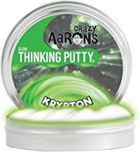 Crazy Aaron's Thinking Putty, 3.2 Ounce, Glow In The Dark Krypton