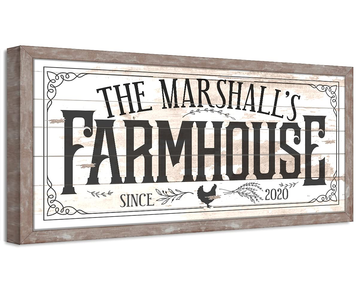 Personalized - Farmhouse Challenge the lowest price Classic Style Max 60% OFF Printed Not Wood on