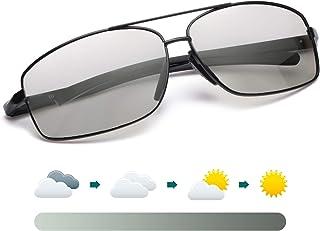 LVIOE Rectangular Sunglasses for Men,Polarized Classic Sunglasses for Driving,Metal Frame Square Polarized Lenses,100% UVA...