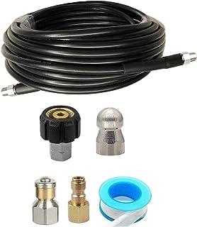 "Prettyia Sewer Jetter Kit for Pressure Washer 49FT Cleaner Hose 5800PSI NPT 1/4"" Hose"