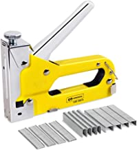 Staple Gun, 3 in 1 Manual Nail Gun with 600 Staples - Hand Operated Heavy Duty Gun for Upholstery, Fixing Material, Decoration, Carpentry, Furniture