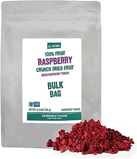 Freeze Dried Rasperry (3/8 inch Diced) - 1 lb. Bag