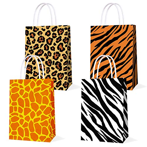 16-PCS-Party-Favor-Bags-for-Animal-Print-Birthday-Party-Supplies-Party-Gift-Goody-Treat-Candy-Bags-for-Animal-Print-Party-Favors-Decor-for-Animal-Print-Themed-Birthday-Decorations