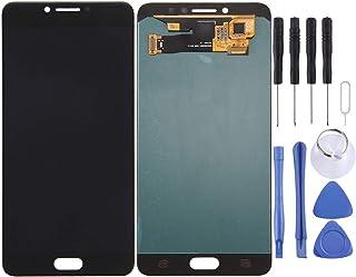 قطع غيار QFH شاشة LCD ومحول رقمي مجموعة كاملة لهاتف Galaxy C7 Pro / C7010(أسود) طقم استبدال Android Phone المحمول (اللون: ...