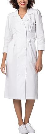 Adar Universal Tuck Pleat Midriff Medical Scrub Dress
