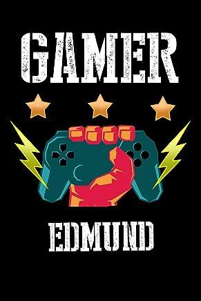 Gamer Edmund: Kariertes Notizbuch mit 5x5 Karomuster für deinen personalisierten Vornamen