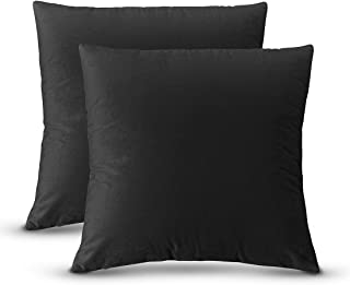 QUXIANG Pillow Covers Set of 2 Cotton Linen Decorative Square Throw Pillow Covers for Sofa Bedroom Car 18 x 18 Inch 45 x 4...