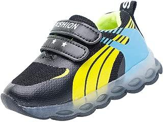 Hopscotch Boys PU Double Strap LED Shoes in Black Color