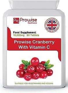 Arándano rojo doble fuerza 10.000 mg 90 tabletas con vitamina C agregada - Suplemento diario