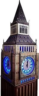 Sirin Craft England London Big Ben Tower Clock, Elizabeth Tower Clock Wooden Handmade for Room Decoration Creative Home Furnishing Handicrafts 2 metre Height