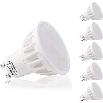 LOHAS GU10 6 W DEL Ampoules Spot Ampoule 500 LM 50 W halogène équivalent Jour Blanc