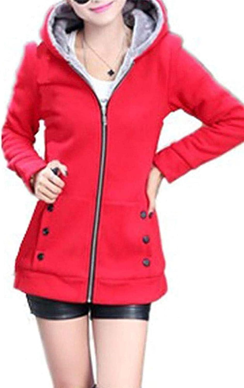 Hoolep Winter Hooded Women Faux Coats Fur Anoraks Jackets Warm Parkas Lined Long