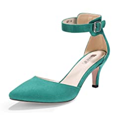 4d7a934be36 IDIFU Women s IN3 D Orsay Pointed Toe Ankle Strap Mid Heel Lo .