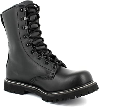 German Army Paratrooper Combat Black Mens Leather BW Cadet Military Boots 7 UK