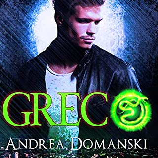 Greco     The Omega Group, Book 1.5              By:                                                                                                                                 Andrea Domanski                               Narrated by:                                                                                                                                 David Dietz                      Length: 1 hr and 39 mins     15 ratings     Overall 4.5