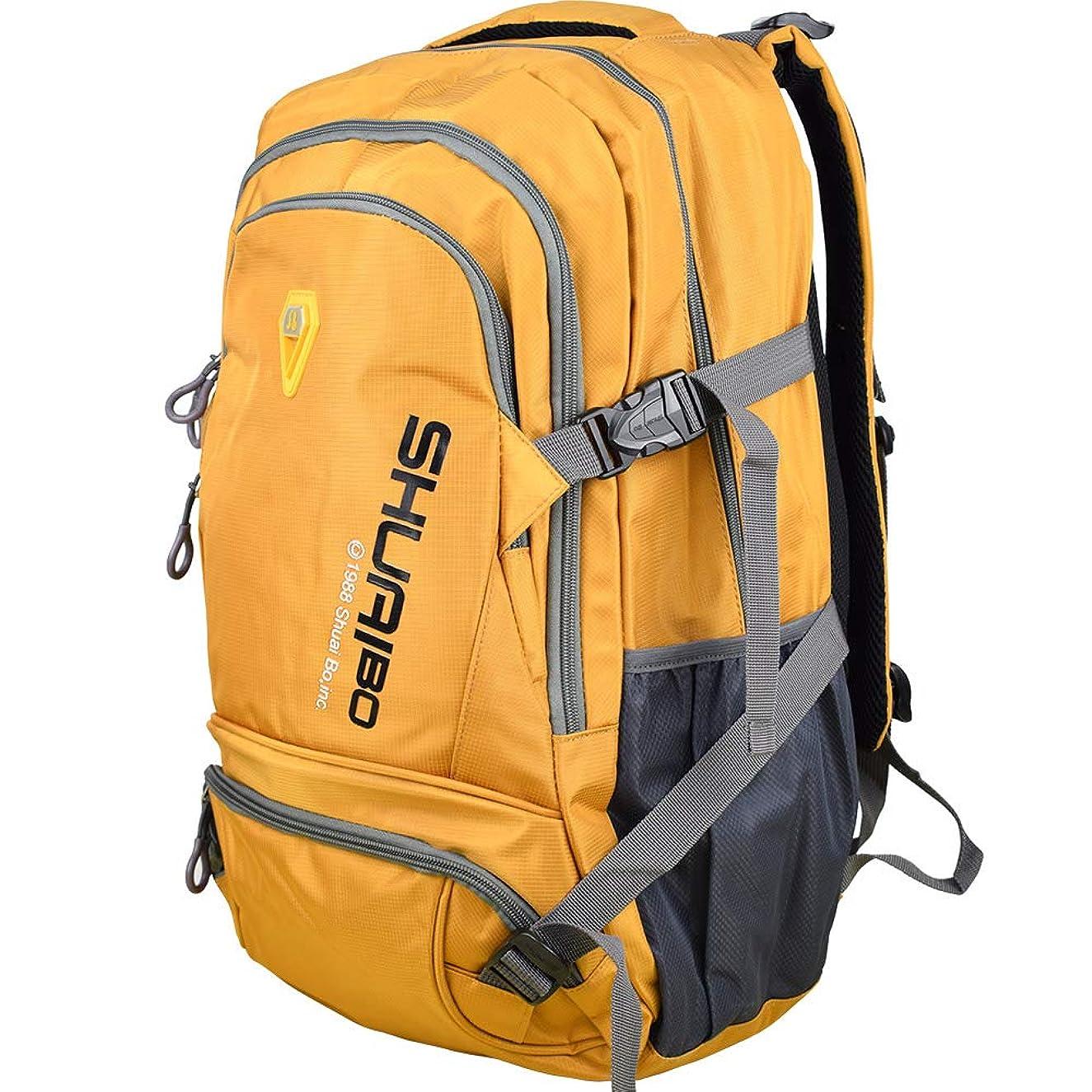 Large Laptop backpack 35L Lightweight Water Resistant Travel Hiking Daypack 15.6 Inch Macbook laptop bag (Orange)