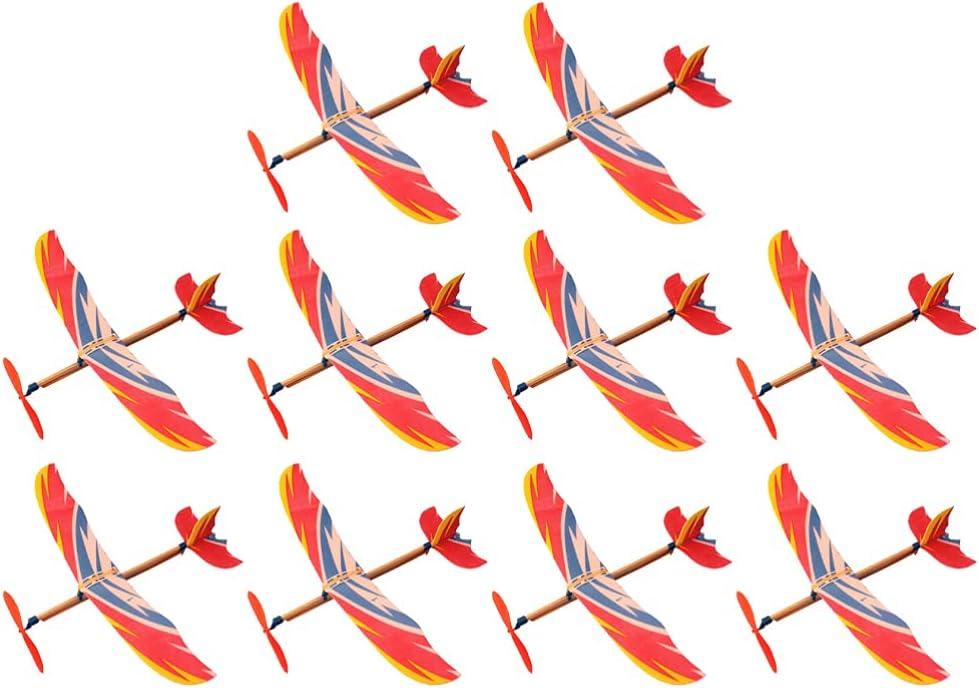 New popularity TOYANDONA Phoenix Mall 10Pcs Glider Planes Bomber Gliders Ban Airplane Rubber