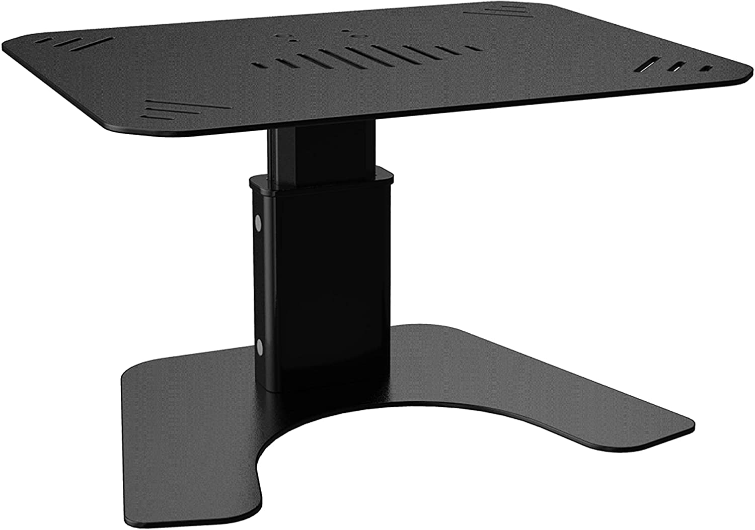 SOUNDANCE Monitor Stand, Computer Monitor Riser for Desk, Upgraded Height Adjustable, Metal Holder Compatible with TV, PC Screen, Laptop, LCD Under 27 Inches, Black