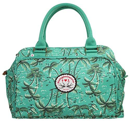 Blutsgeschwister Handtasche CHARMING CAVALIER CASE Polyester türkis Damen - 019050