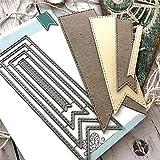 cA0boluoC Stanzschablone, Rahmen Hintergrund Stanzform für DIY Handwerk Scrapbooking Karten machen Album Geschenk-Box Dekoration, Prägeschablone Metall silber