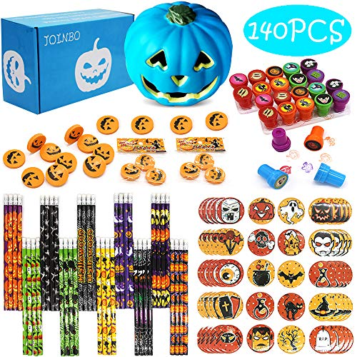 JOINBO JoinBo140PCS Halloween School Stationery Party Supplies Gift Sets Suitable for Classroom Exchange Parties and Teal Pumpkin Project