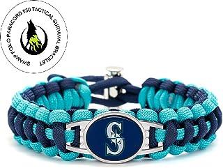 Swamp Fox Premium Style Seattle Mariners Baseball Team Adjustable Paracord Survival Bracelet