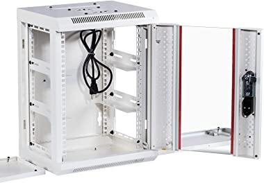 KENUCO SOHO Mini 10'' Rack with Fan for 10'' Patch Panels, Shelves, SOHO Active Components   NOT for 19'&
