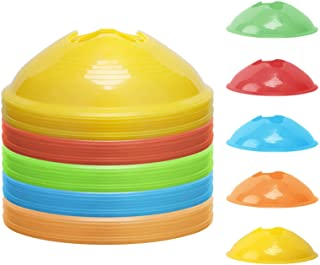KEVENZ 50-Pack Soccer disc Cones,More Thicker, More Flexible,Multi Color Cone for Agility Training, Soccer, Football, Kids...