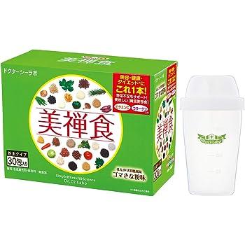 ドクターシーラボ 美禅食 (ゴマきな粉) + シェイカー [ 食物繊維・ビタミン・ミネラルなどの補給 ] 健康補助食品 (462g / 15.4g×30包)