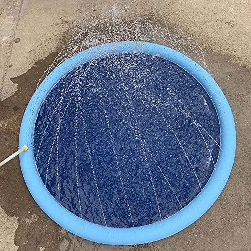 JSJJAUJ Haustierbett Haustier Sprinkler Pad Spiel Kühlmatte Schwimmbad Outdoor Aufblasbare Wasser Spray Pad Mat Wanne Für Hund Sommer Cool (Color : Blue150cm)