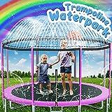 Trampoline Sprinkler Toys for Kids, 39ft Trampoline Water Park Sprinkler Outdoor Backyard Trampoline for Kids Fun Summer Outdoor Water Toys for Boys Girls. (39ft)