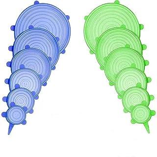 BEI&YANG 12Pcs Wrand Wrap Stretch Stretch Silicium Silicon Coussin De Cuisine Réutilisable Cuisine Organisation Gardez Le ...