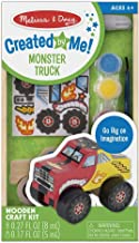 Melissa & Doug Created by Me! Monster Truck Wooden Craft Kit (27 Stickers, Paint & Glue, Great Gift for Girls and Boys – Best for 4, 5, 6, 7 and 8 Year Olds)