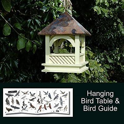 Wildlife World Bempton Hanging Bird Table and Bird Guide by Wildlife World