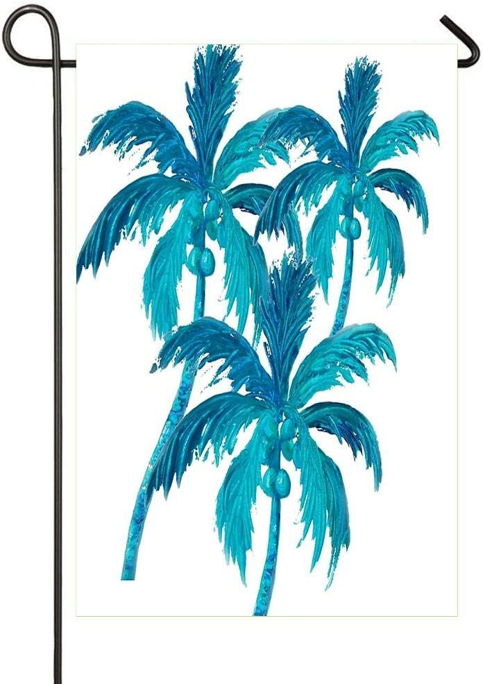 Amazon Com Palm Trees Garden Flags Double Sided Yard Flags Indoor Outdoor Home Flag For Decoration 12 X 18 Garden Outdoor