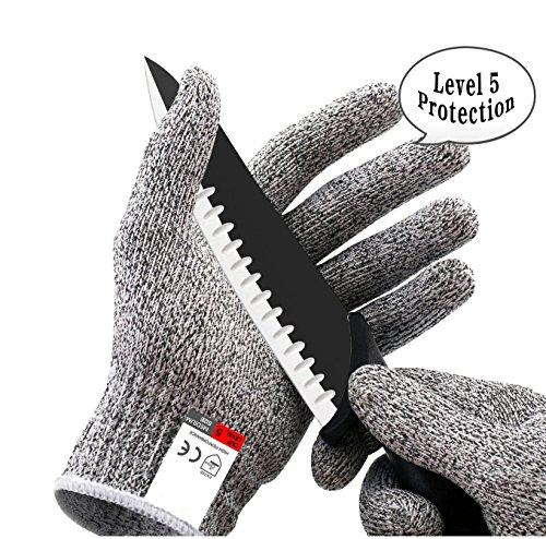 Buy-To HPPE EN388 ANSI Level 5 Snijbestendige handschoenen, anti-cut veiligheid op het werk voor de keuken van Hirsch stuurwiel