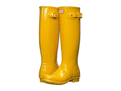 Hunter Original Tall Gloss Rain Boots (Yellow) Women