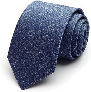 Classic Tie/Men's Single Striped Tie/Fashion Casual Skinny Tie Men's Parties Office 145 × 8cm CQQO (Color : E)