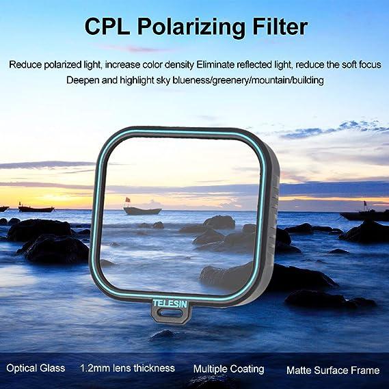 Telesin Gopro Objektiv Filter 3 Pack Nd4 Nd8 Nd16 Neutral Density Filter Lens Kit Für Gopro Hero 2018 Hero 6 Hero 5 Gopro Kamera Objektiv Zubehör Nd 4 8 16 Amazon De