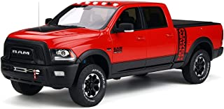2017 Dodge Ram 2500 Power Wagon Pickup Truck with Bed Cover Flame Red Limited Edition to 999 Pieces Worldwide 1/18 by GT Spirit GT224