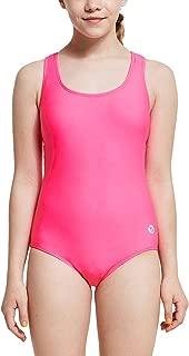 BALEAF Girls One Piece Swimsuit Conservative Athletic Racerback Swimwear Youth Bathing Suit