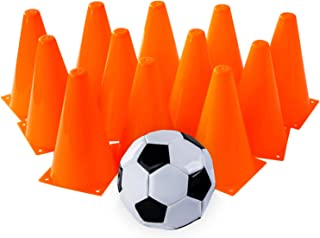 Tigerdoe Carnival Games - Relay Races - Party Games - Birthday Games - Prizes (12 Pack Cones with Soccer Ball)