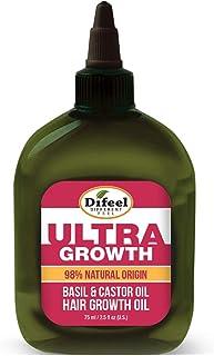Difeel Ultra Growth 98% Natural Basil & Castor Hair Growth Oil, 2.5 Fluid Ounce