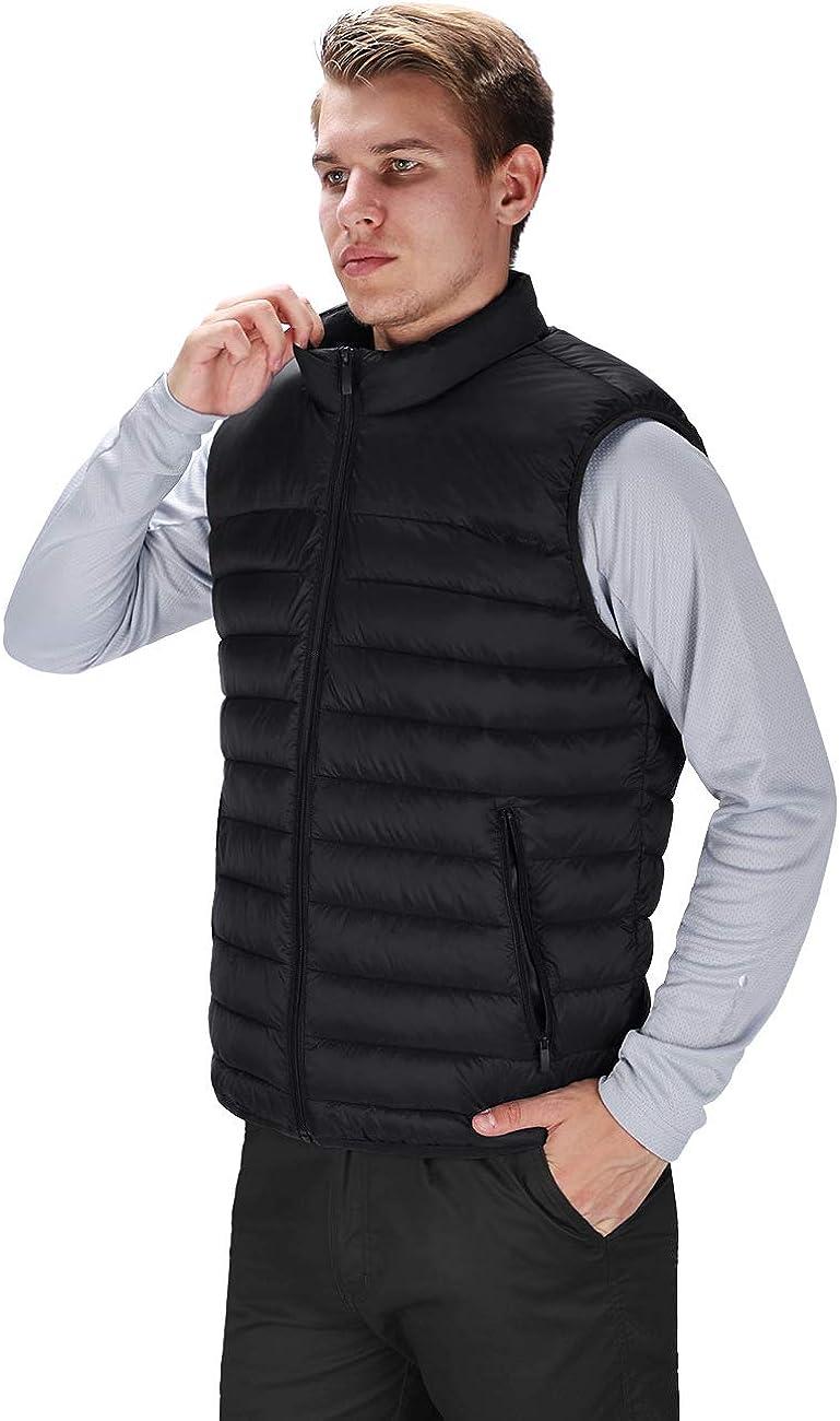 DISHANG Gilet Invernale da Uomo Isolato Leggero Imbottiti Puffer Gilet per Sportivo Esterno con Tasche