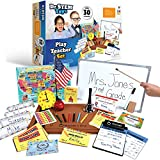 Dr. STEM Toys Pretend Play Teacher Role-Play Set Includes Reusable White Board, Bell, Report Cards, for Home or Classroom